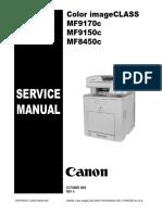 Canon Color Imageclass Mf9170c Mf9150c Mf8450c
