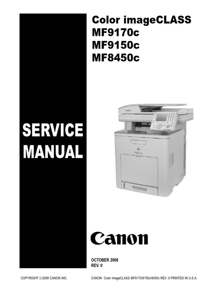 Canon color imageclass mf9170c mf9150c mf8450c | signal.