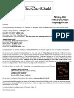 SWFFCG February 2016 Newsletter