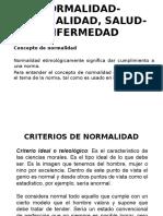NORMALIDAD Criterios. Signos y Síntomas