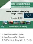 WTP Design Criteria