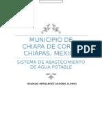 Abastecimiento de Agua Potable, Chiapa de Corzo