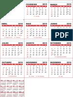 2015 - Calendário de Mesa Pequeno - Cv