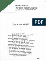 """Laurindo Rabelo, """"Adeus Ao Mundo"""""""
