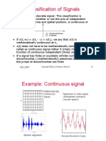 Signals Classifications