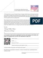 Galentines Day Parent Letter