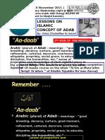 Adab Lesson