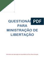 QUESTIONÁRIO PARA MINISTRAÇÃO DE LIBERTAÇÃO