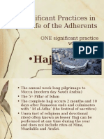Significant Practices in the Life of the Adherents-HAJJ