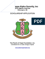 2016 Alpha Kappa Alpha Sorority Zeta Omega Chapter Scholarship Application