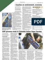 GOP presence weak in Columbia before Super Tuesday
