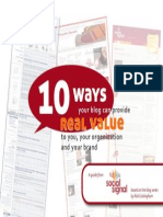 10 Ways Your Blog Can Provide Real Value to You, Your Organization and Your Brand