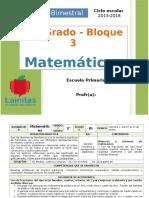 Plan 3er Grado - Bloque 3 Matemáticas (2015-2016)