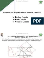 6.1- Diseño de Amplificadores de Señal Con BJT