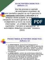 Proiectarea didactica