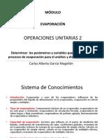 Operaciones Unitarias 2. Evaporacion