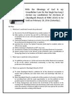 Detailed Manifesto of CA Keshav Garg