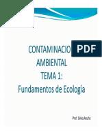 ecologia, y contaminacion ambiental