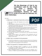 Detailed Agenda by CA Keshav Garg