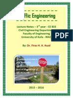Lec 00 Traffic Engineering - Opening and Syllabus