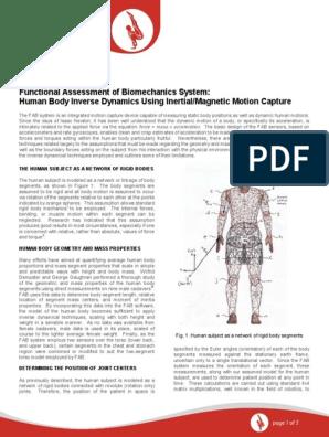 Functional Assessment of Biomechanics System- Human Body