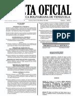 Gaceta Oficial Número 40.843 de la República de Venezuela, 04 de febrero de 2016