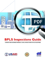 BPLS Inspections Guide - Conducting Business Friendly Local Inspections in the Philippines