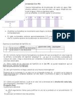 Practica 0, Mezclas Homogéneas y Heterogéneas. Datos.