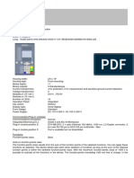 Siemens Protection Relay Specification