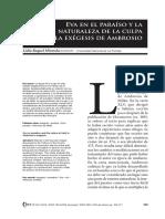Miranda-Eva en El Paraíso y La Naturaleza de La Culpa en La Exégesis de Ambrosio (Sta. Rosa de La Pampa, Inst. de Est. Clásicos, U. de La Pampa, Núm. 2, Jul-dic)