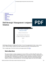 Dell Strategic Management Assignment_Case Study Solution (Project)