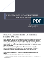 Procedures of Assessment
