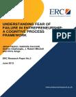 Understanding Fear Of Failure In Entrepreneurship A Cognitive Process Framework