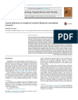 Causal inference in empirical archival financial accounting research