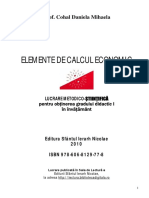 Elemente de Calcul Economic-Cohal Daniela Mihaela