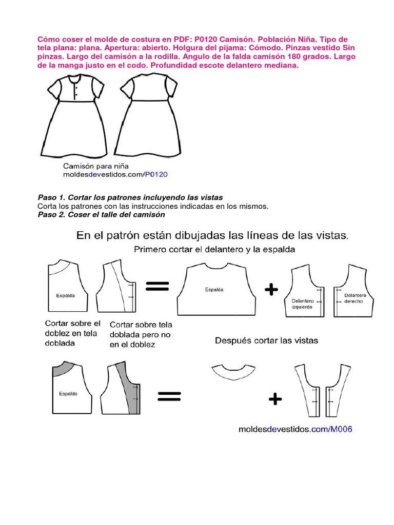 Cómo Coser El Molde de Costura en PDF