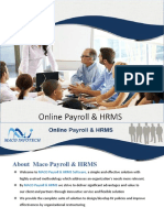 Maco HRMS and Web Payroll Management System