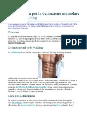 dieta per la definizione super muscolare