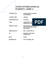 Registrar's Management System Specification Document by Shadrack Kweingoti
