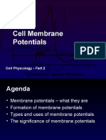 Cell Physiology - Membrane Potentials