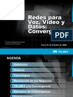 Redes Para Voz,Video y Datos- Convergencia - 211004