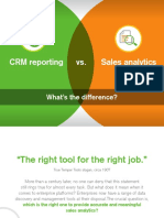 CRM Reporting vs Sales Analysis