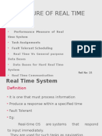 Real Time and Fault Tolerance