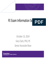 FE Exam Information Session