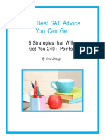 The Best SAT Advice