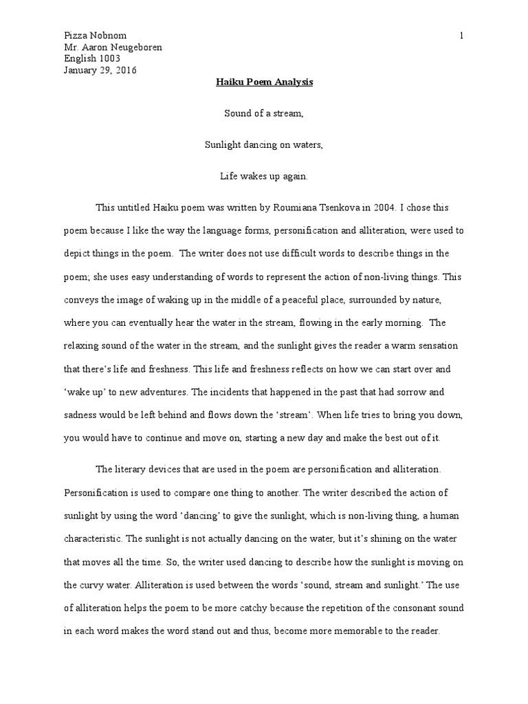 the waking poem analysis