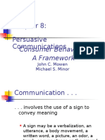 Chapter 8-Persuasive Communications
