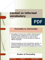 Formal vs Informal Vocab
