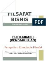 FILSAFAT BISNIS