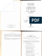 Curtius Literatura Europeana Si Evul Mediu Latin
